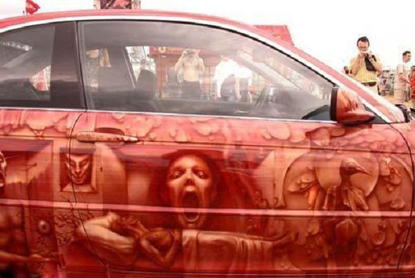 الرسم السيارات