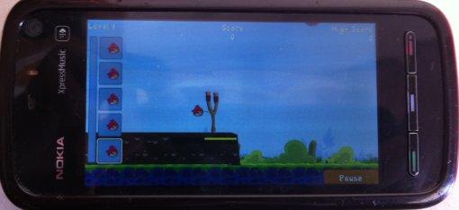 لعبة angry birds نوكيا 5800