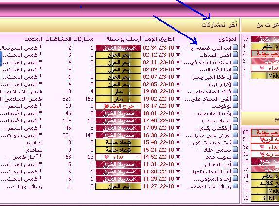 أعلى إحصائيات أسفل الصفحة الرئيسية