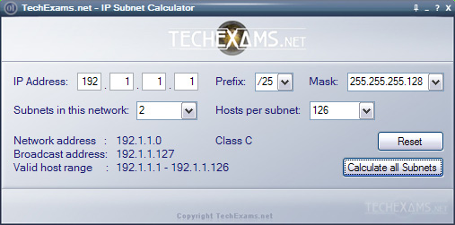 Subnet Calculator Windows
