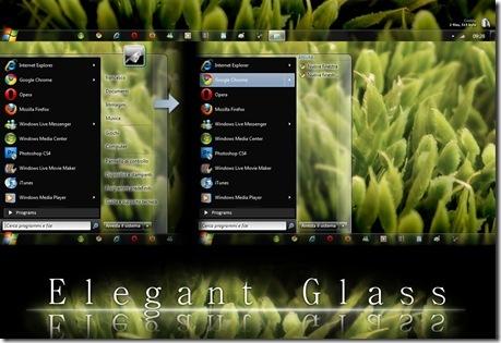 ثيم خيالى لويندوز 7 Elegant Glass