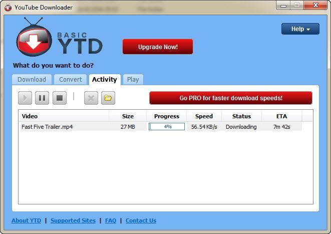 النسخة الحصرية من البرنامج الخاص بتحميل ملفات الفيديو منYouTubeDownloader