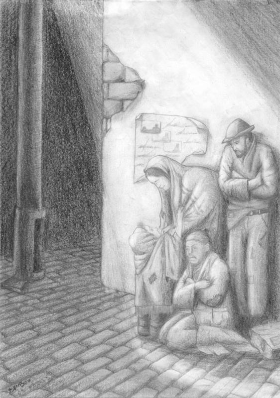 لوحات رسم بقلم الرصاص اتخبل الما يتخبل