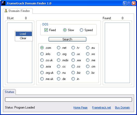 ������ ����� �� ������ - Frametrack Domain Finder