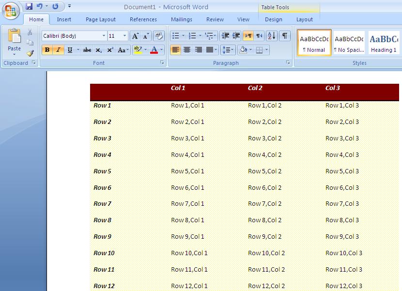 مشروع يوضح كيفية تصدير بيانات الاداة FlexGrid الى جدول فى ملف word 453566011