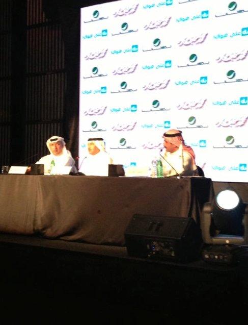 جانب المؤتمر الصحفي لفنان العرب