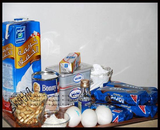 تشيز كيك التوفي بالشوكولاته والفول السوداني 379744399