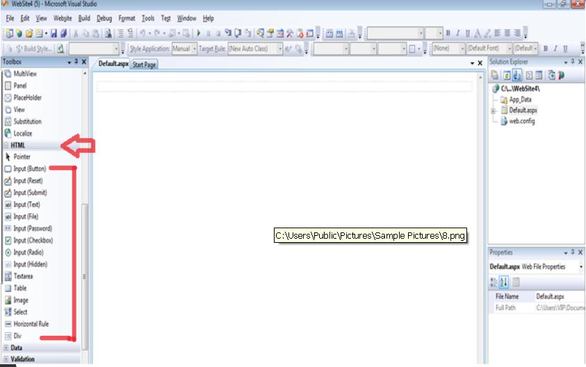 ASP.NET للمبتدئين ....الدرس الثالث _عناصر التحكم في بيئة ASP.NET 739836850