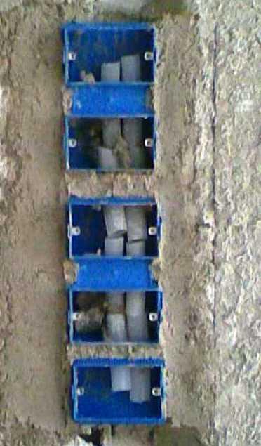علب معدنية التي تركب عليها المفاتيح الكهربائية 412420486