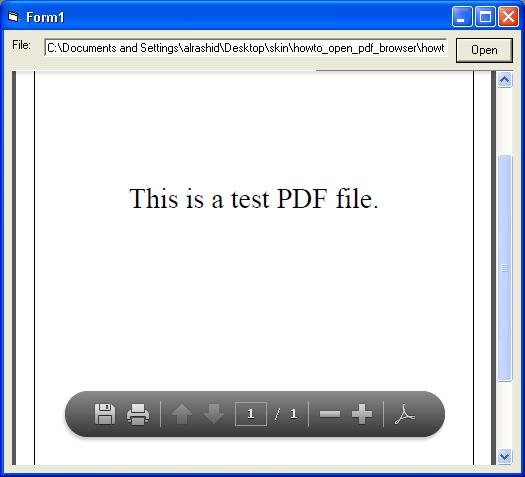 فتح و قراءة ملفات pdf باستخدام الاداة WebBrowser بسطر كود واحد  944886162