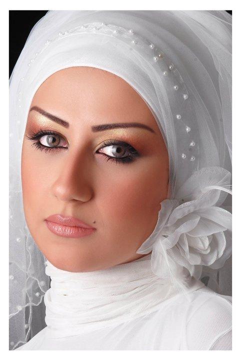 البوم صور لفه طرحة العروس المحجبة موضة 2014