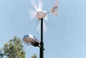 وحدات اضاءه تعمل بطاقة الرياح
