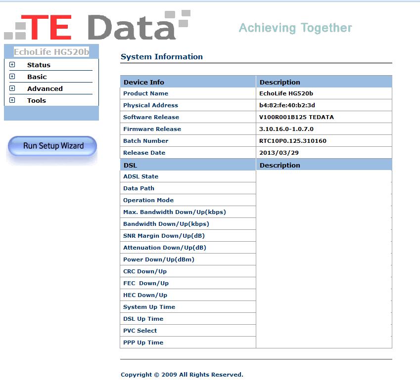عمل سوفت وير لروتر TE Data