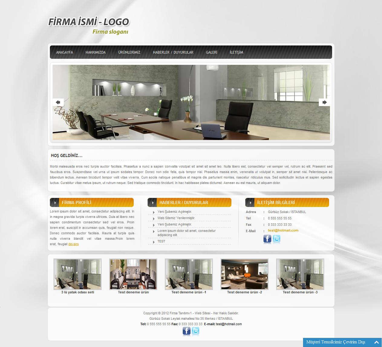 Corporate company php cms script