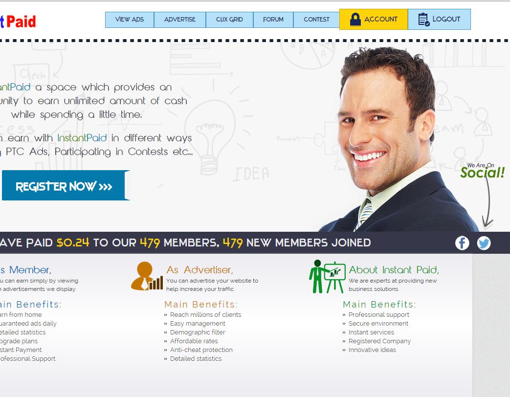 التسجيل والربح شركة Instant Paid 548097264.png