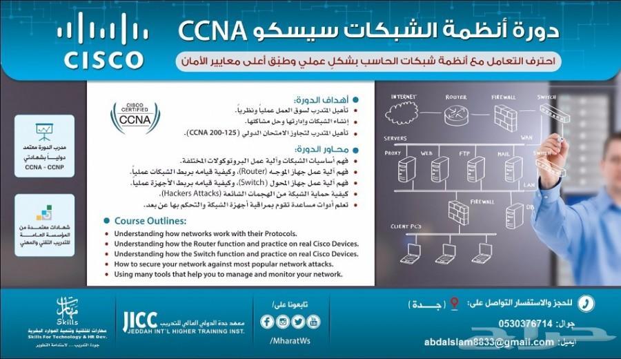 دورة أنظمة الشَّبكات سيسكو ccna