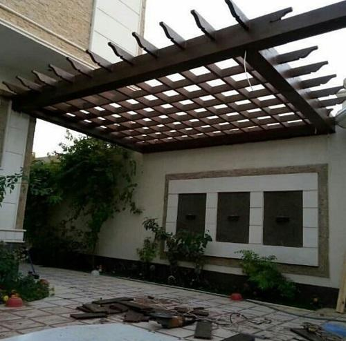 أشكال برجولات الأسطح والأحواش المنزلية برجولات خشبية