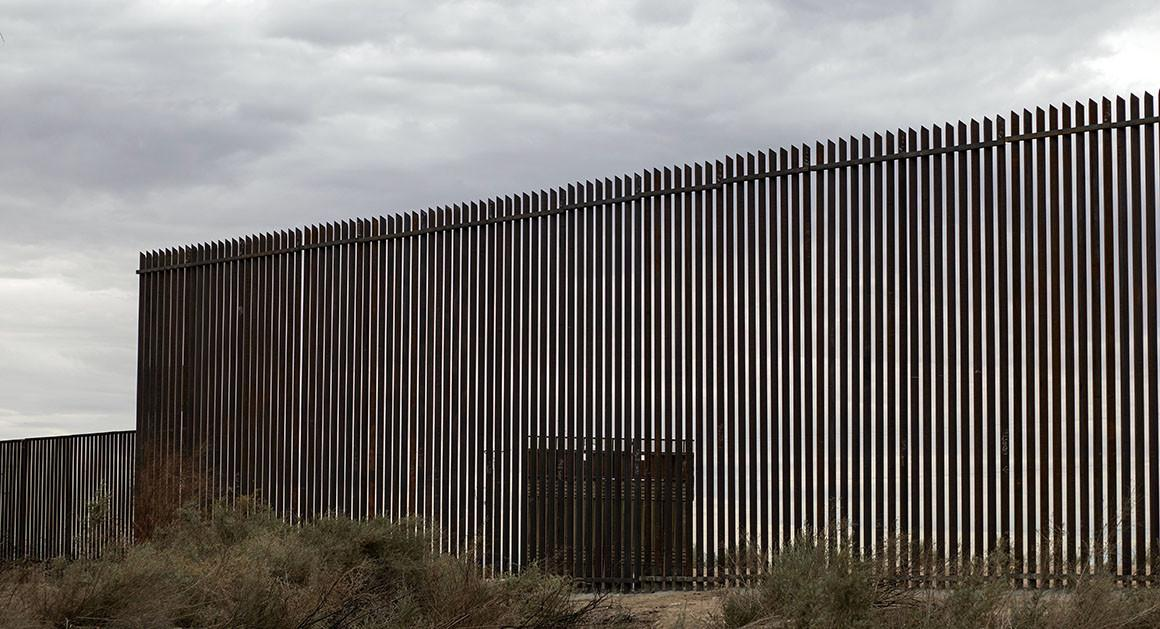 First section of Donald Trump's wall at Mexico border unveiled