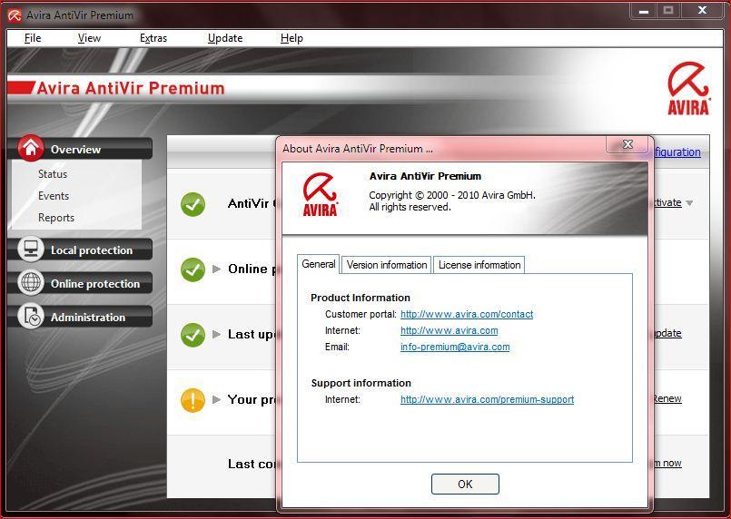 مشكلة.. نسخة Avira AntiVir Premium انتهت عندي