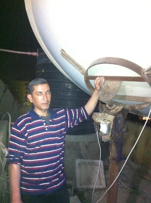 استقبال الترددات الضعيفة للاقمار والطبق وسط خزان المياة و3 ابراج تقوية شبكات المحمول