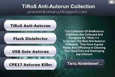 أقوى البرامج للقضاء على فيروس أوتورن TiRoS Anti-Autorun
